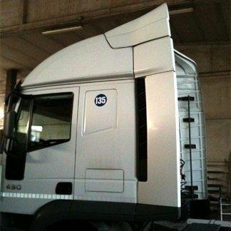 montaggio spoiler camion
