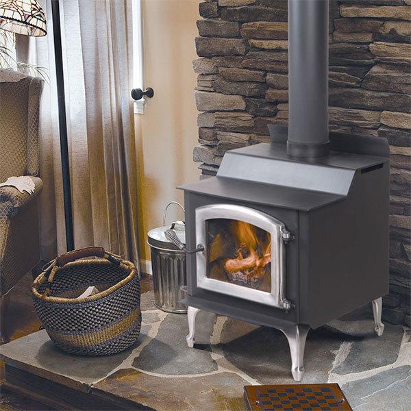 faux stone panels wood stove