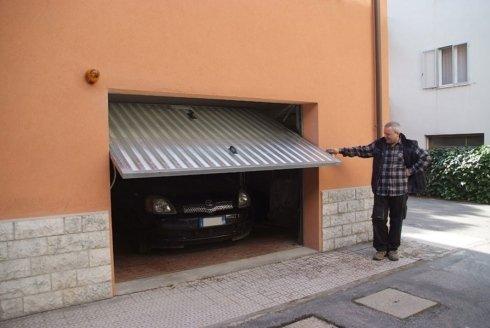 basculante in alluminio porta garage
