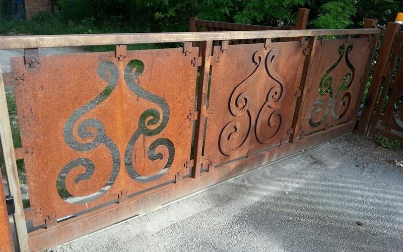 cancello automatico legno