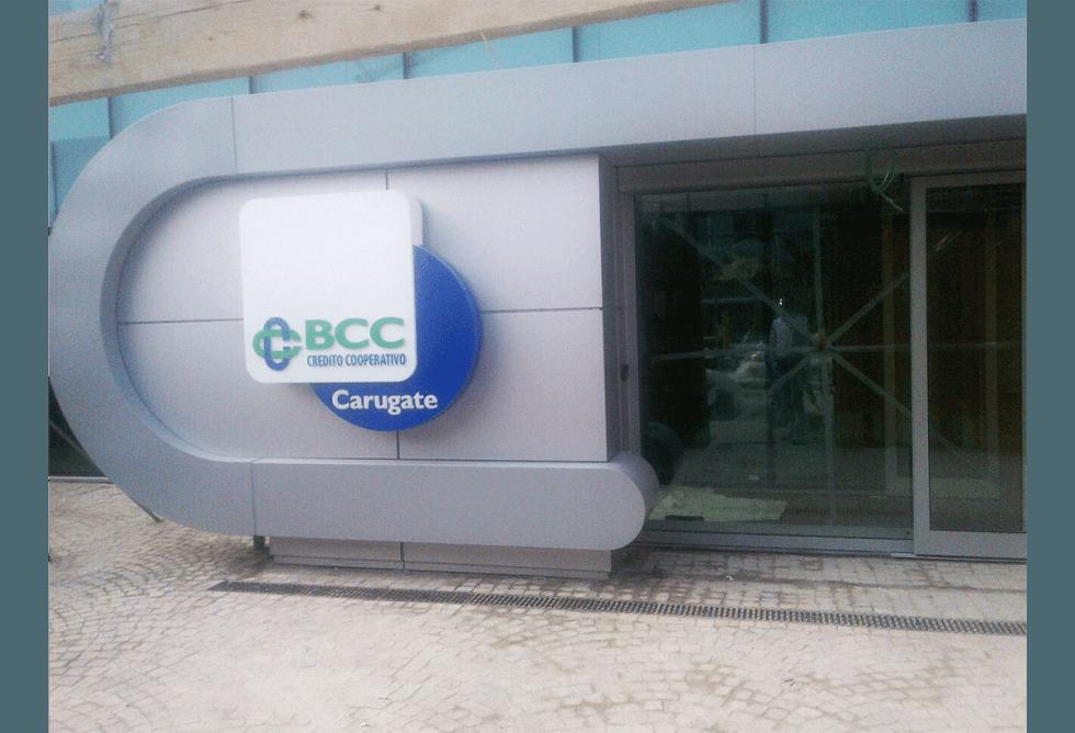 struttura alluminio banca