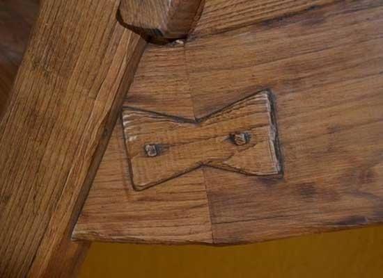 Dettaglio della lavorazione legno