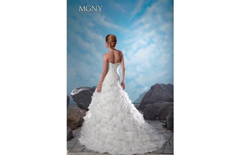 MGNY abiti da sposa con strascico