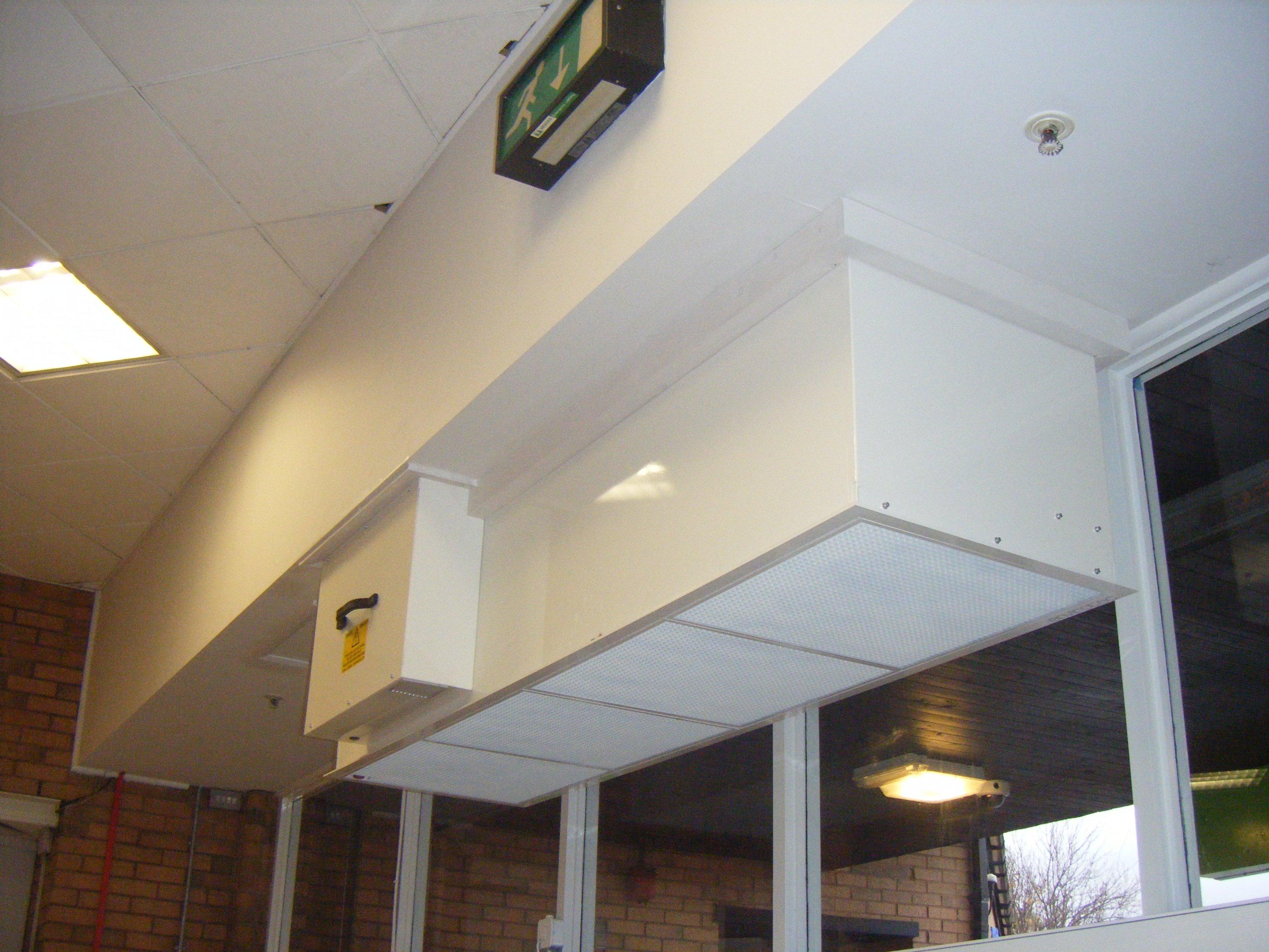Above door heater installed in local ASDA store