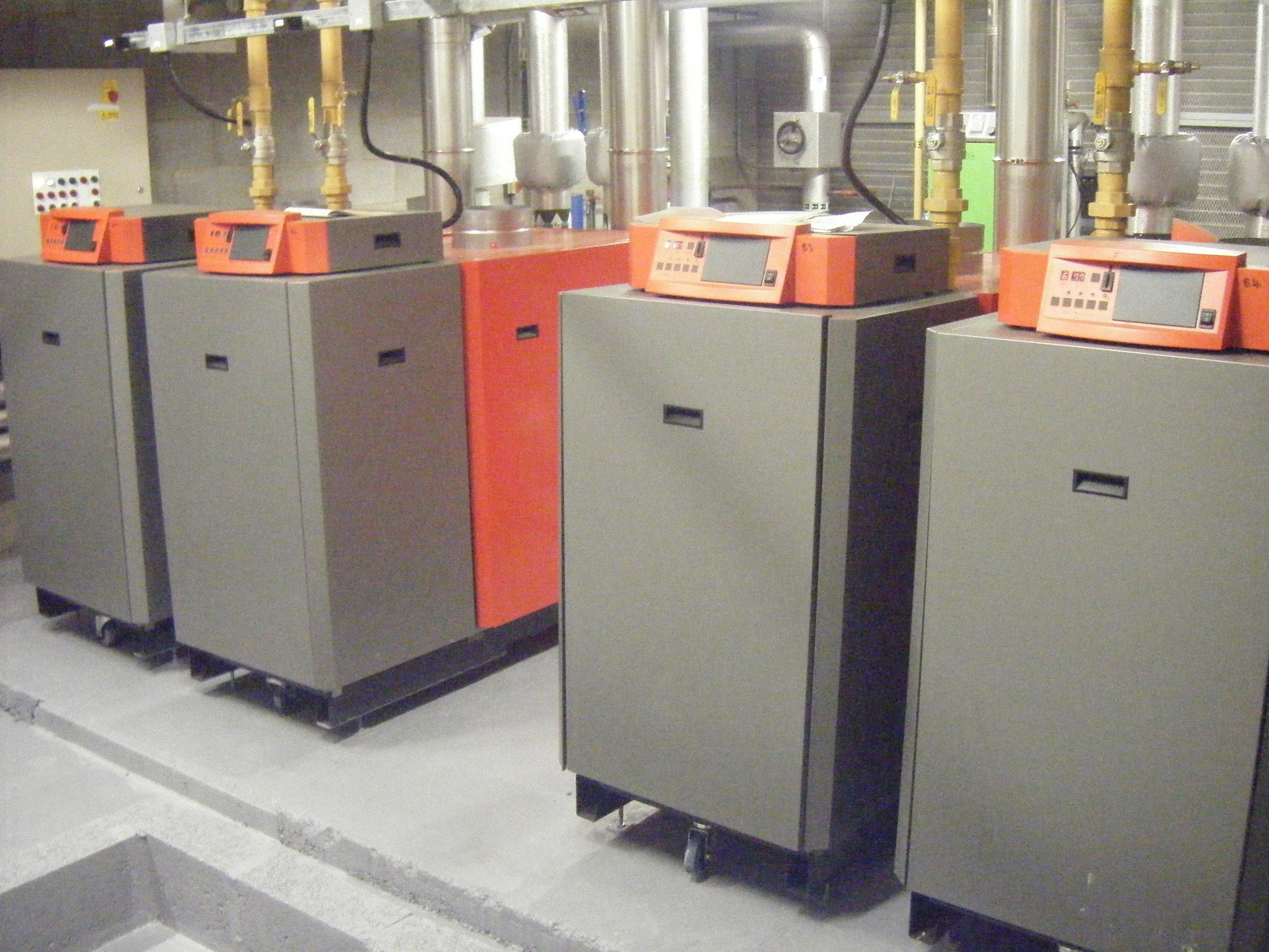 Commercial/industrial boiler room installation