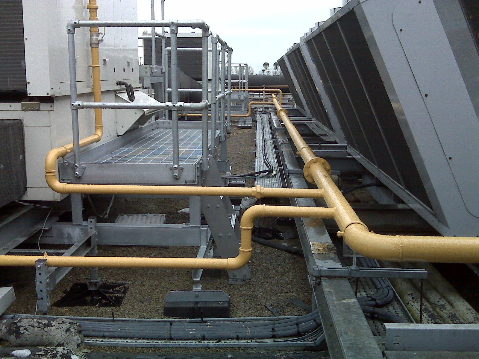 Gas pipework installation
