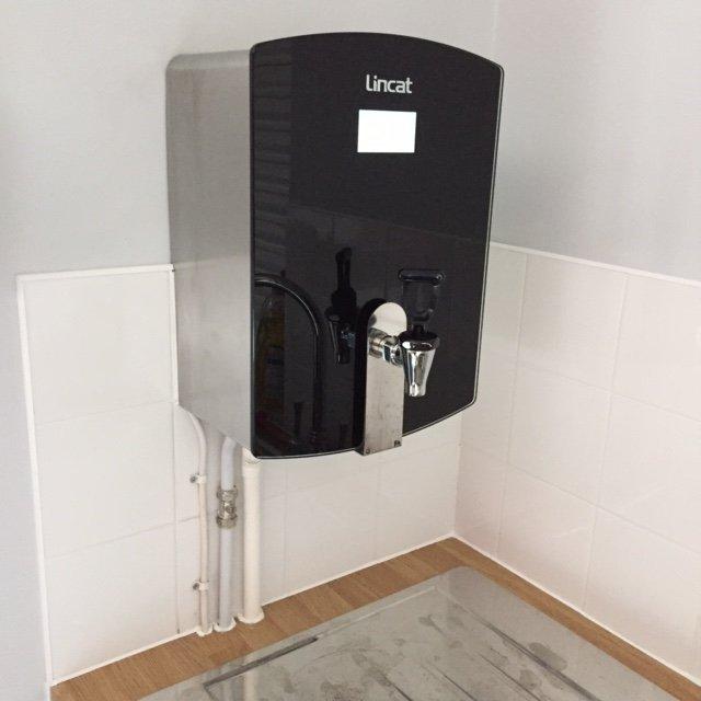 An above sink water boiler installation