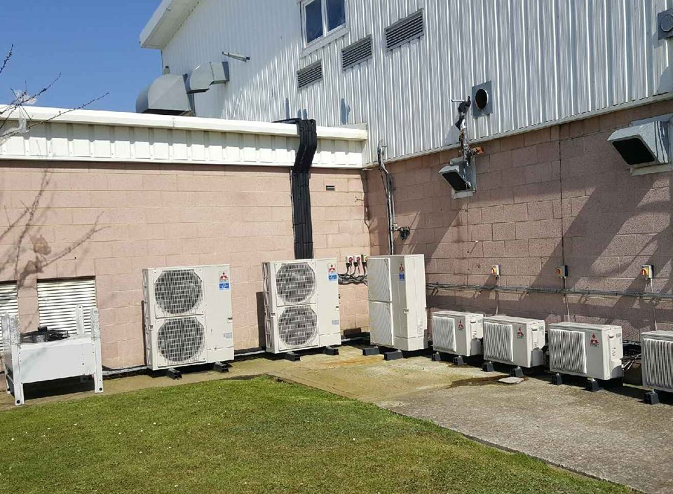 Completed air conditioning installation