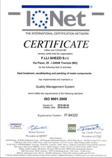 azienda certificata verniciatura metalli