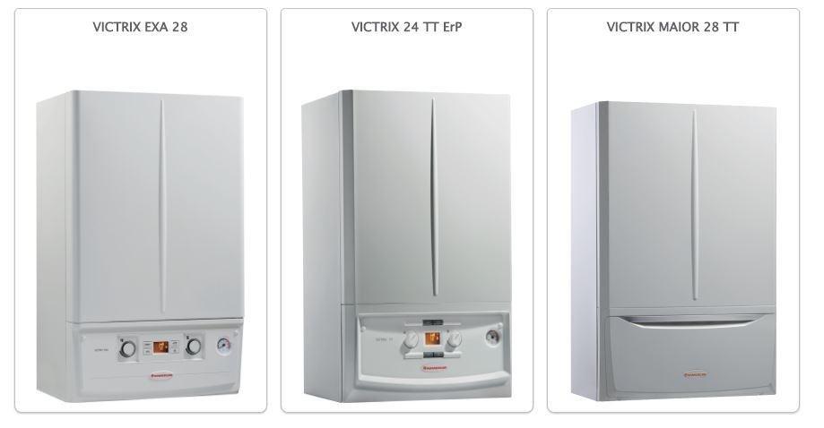 Tre modelli di caldaie VICTRIX