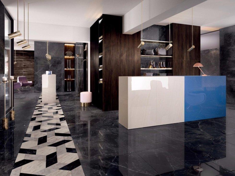 Gres effetto marmo reflex con mosaici