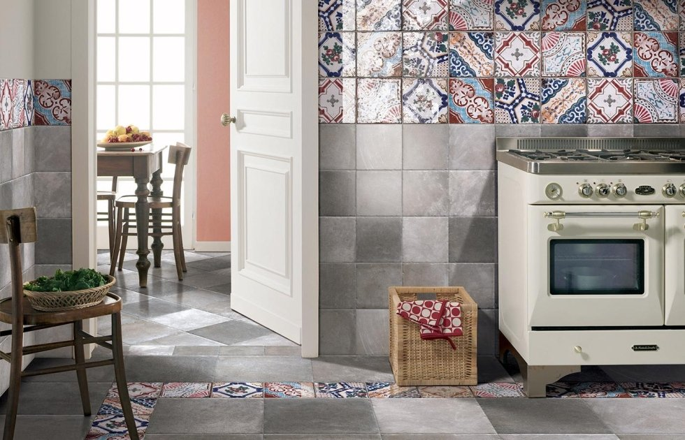 Piastrelle decorate effetto patchwork Asti