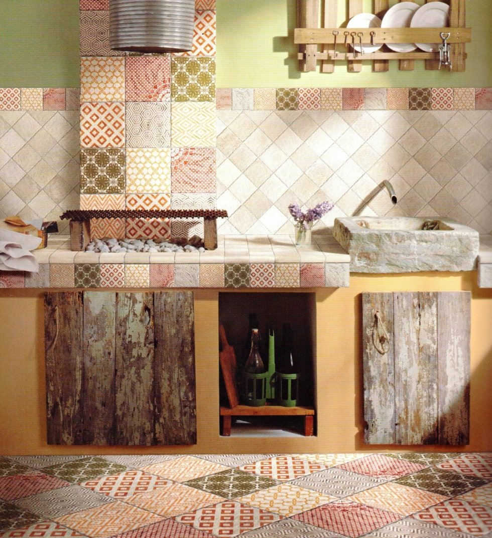 Excellent emejing piastrelle per cucina rustica brielspace - Pannello rivestimento cucina ...