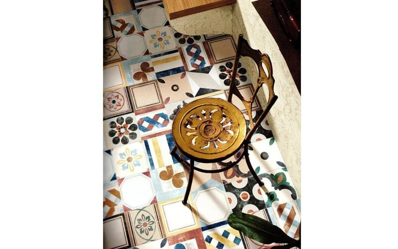 Patchwork di piastrelle 20 x 20 multicolor Asti