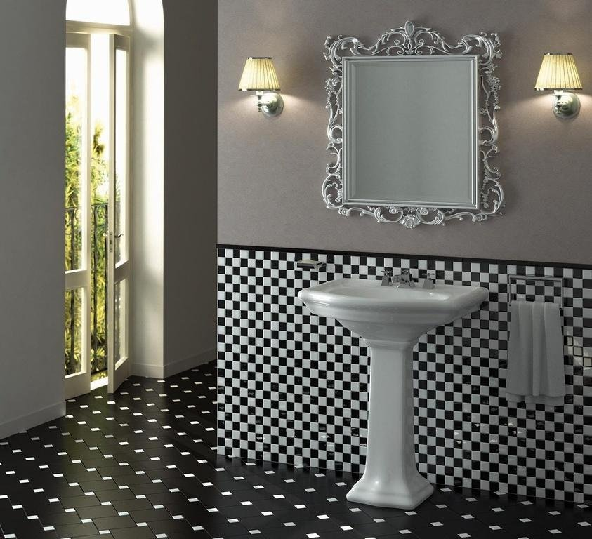 Bagno stile vittoriano bicolor black and white Asti