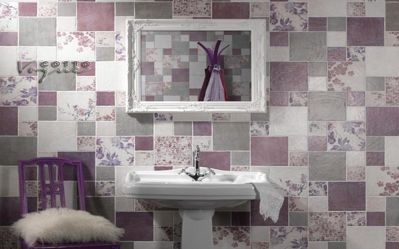 Piastrelle decorate a patchwork Asti