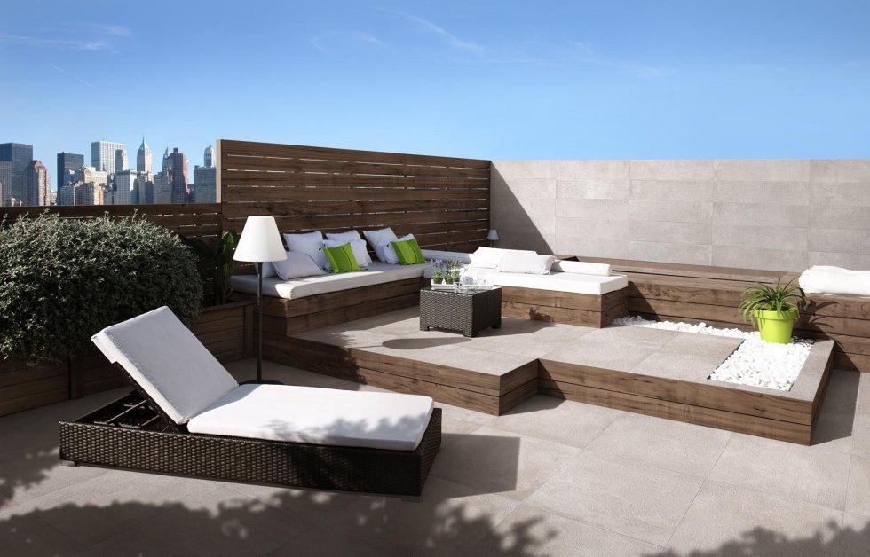 Pavimentazione terrazzo esterno in gres 60 x 60 cm Asti