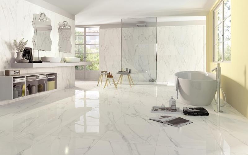 Piastrelle per bagno asti tralli marmi ceramiche for Bagno effetto marmo