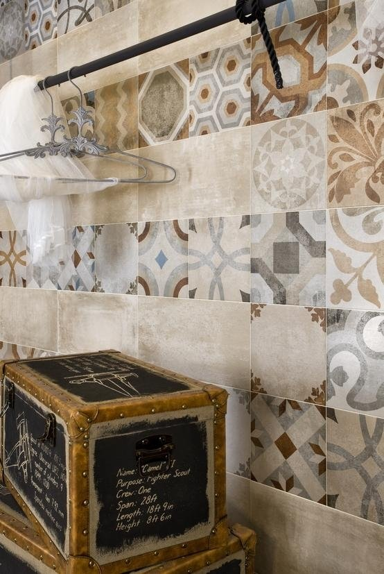 Gres decorato tipo cementina formato 30 x 30 cm Asti