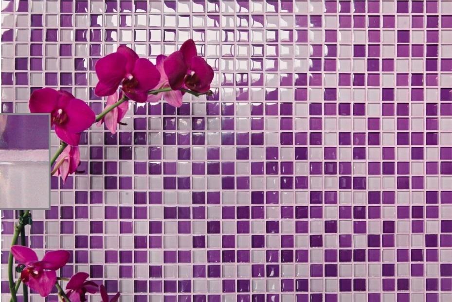 Mosaico in vetro viola Asti