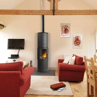 stufa legna, fiamma, calore naturale