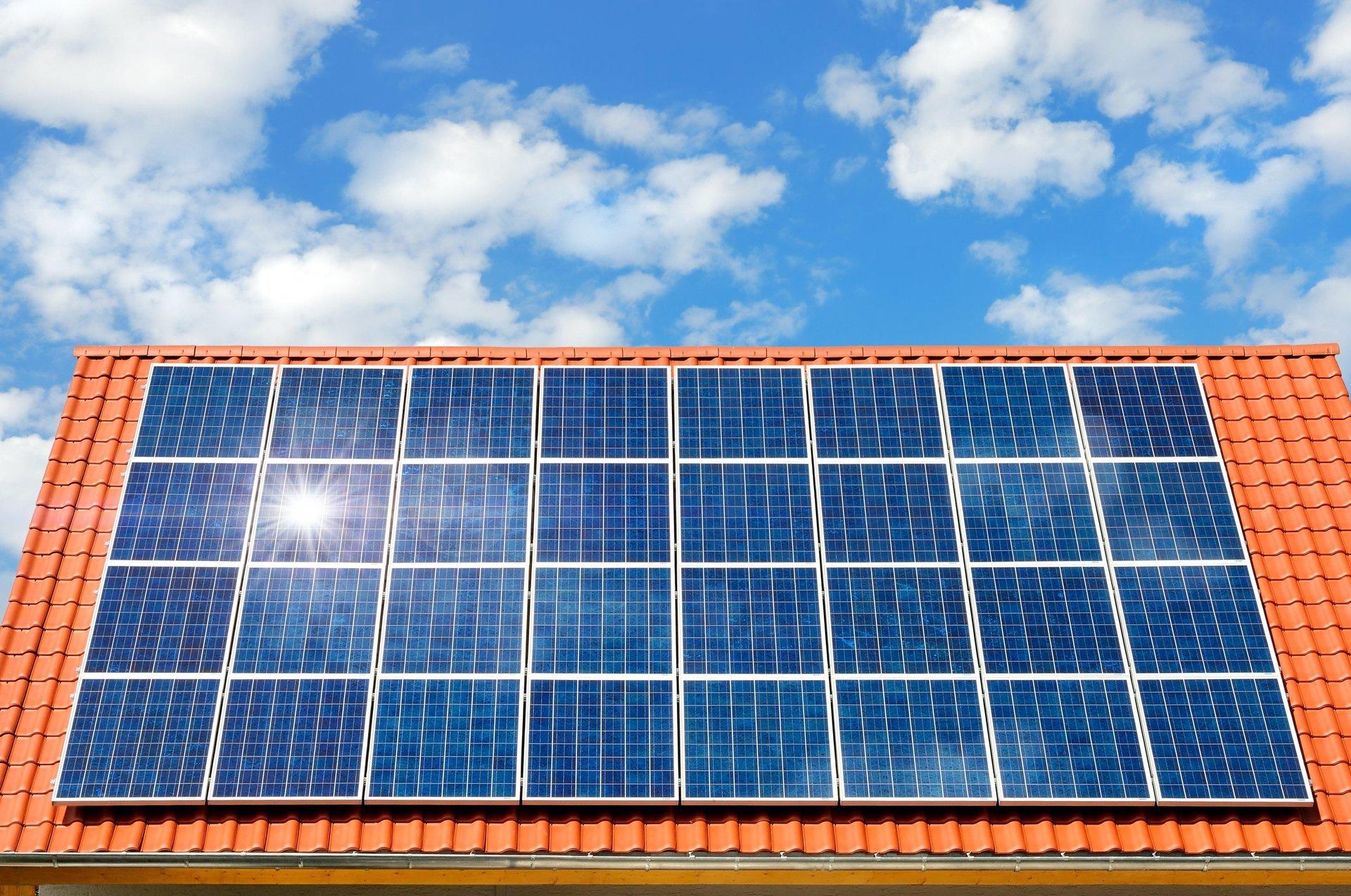 primo piano pannelli solari