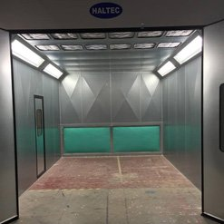 A fully fitted spray booth from Haltec