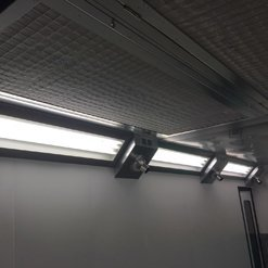 Lights in a spraybooth