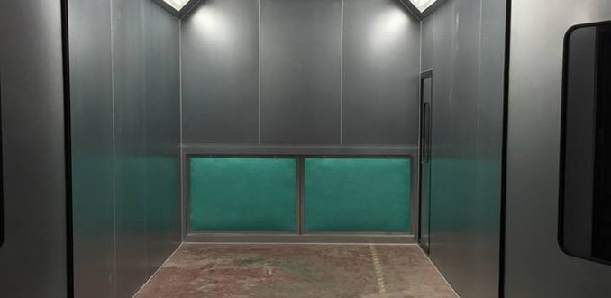 A new commercial vehicle spray booth