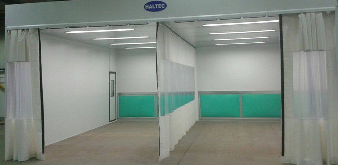 Two smart repair bays with flexi curtains