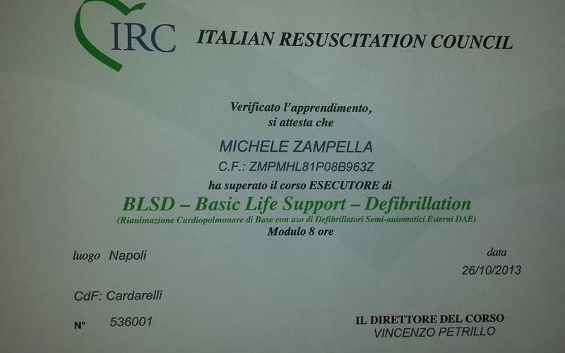 corsi aggiornamento defibrillazione caserta