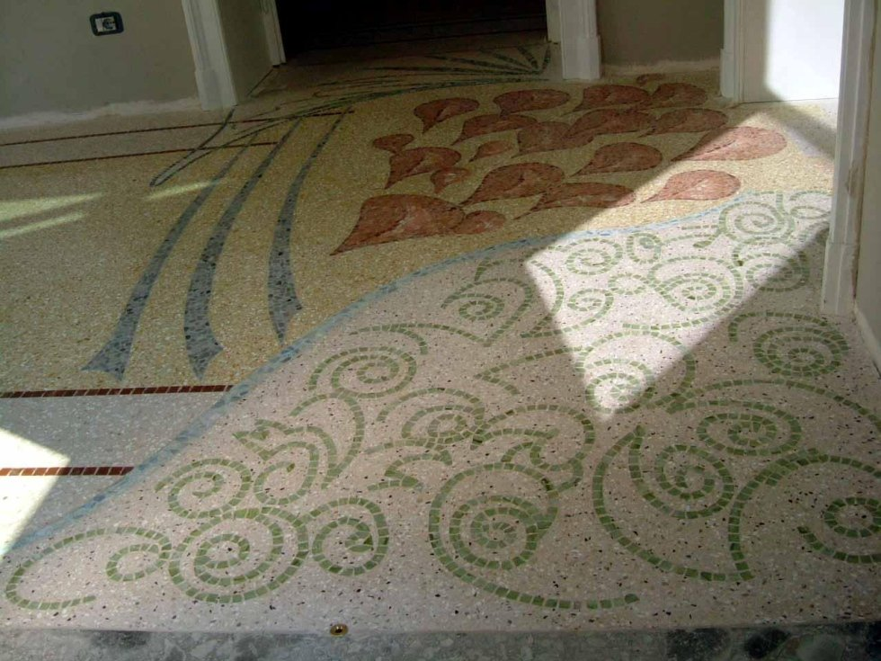 pavimento in battuto genovese
