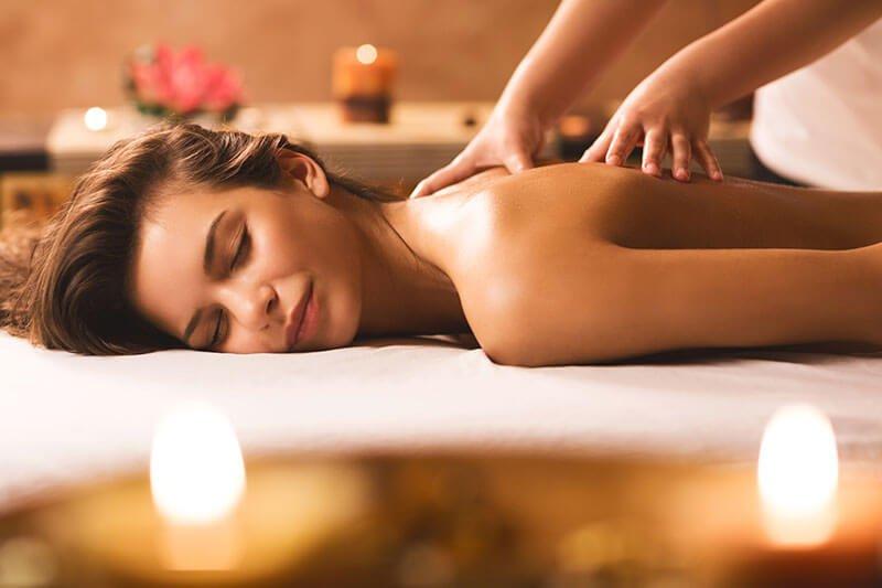 back oil massage