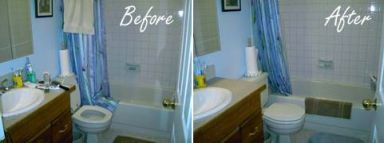 Before and after photos of residential cleaning in Anchorage, AK