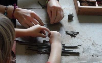 preparare strisce di creta