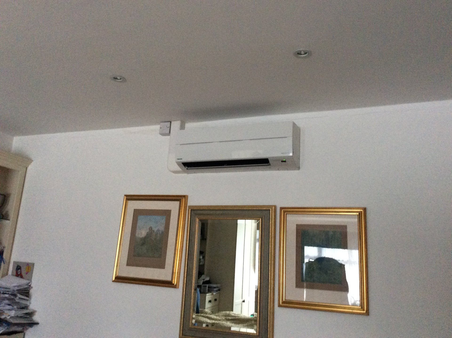ac above the doors and windows