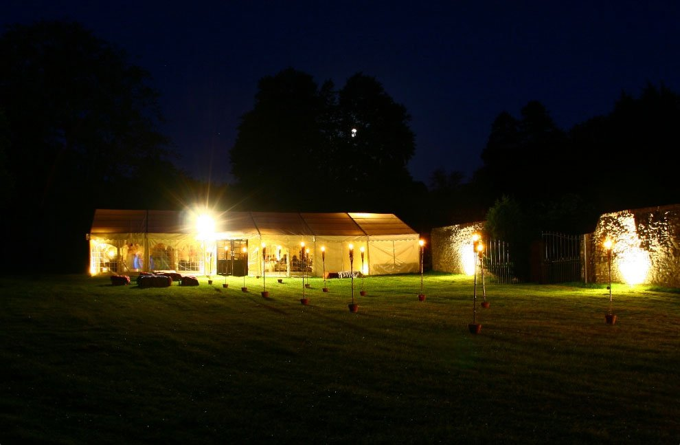 far view of the marquee