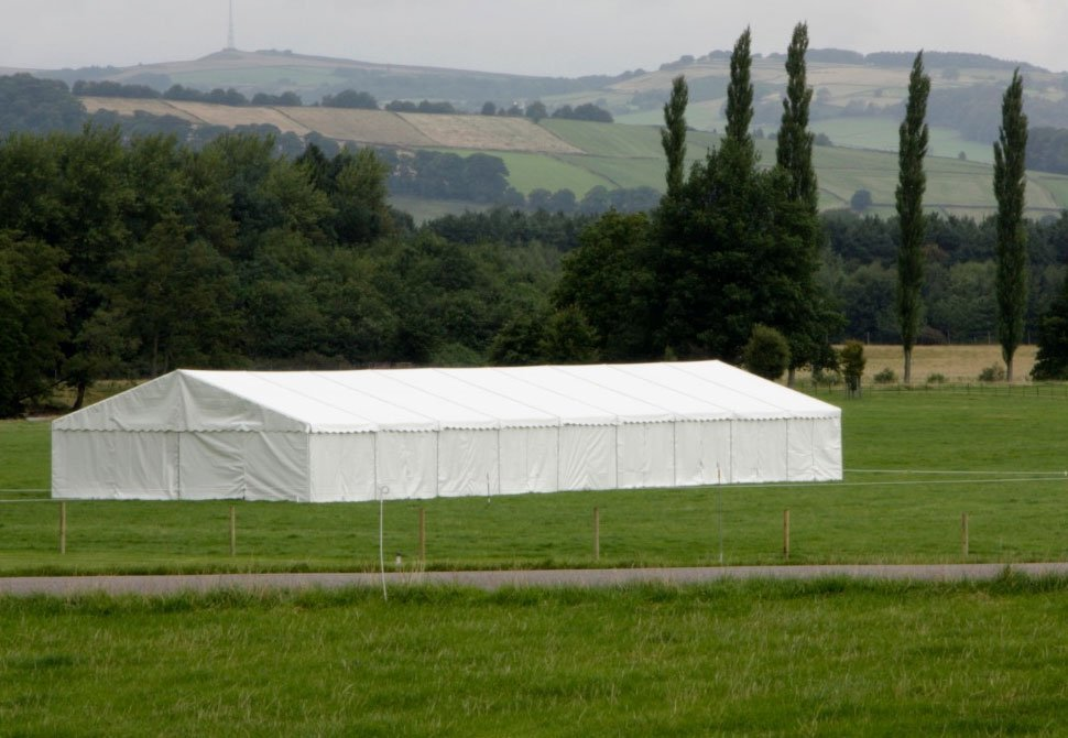 marquee amidst the landscape