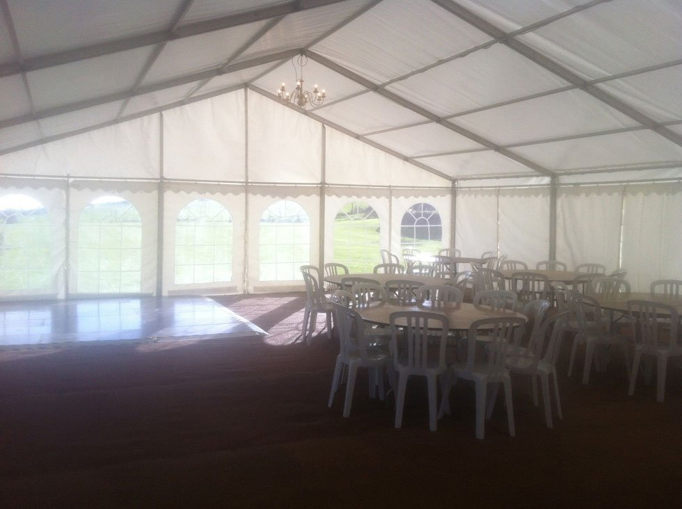 fully covered marquee