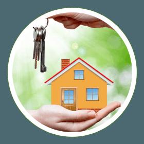 miniature home with key