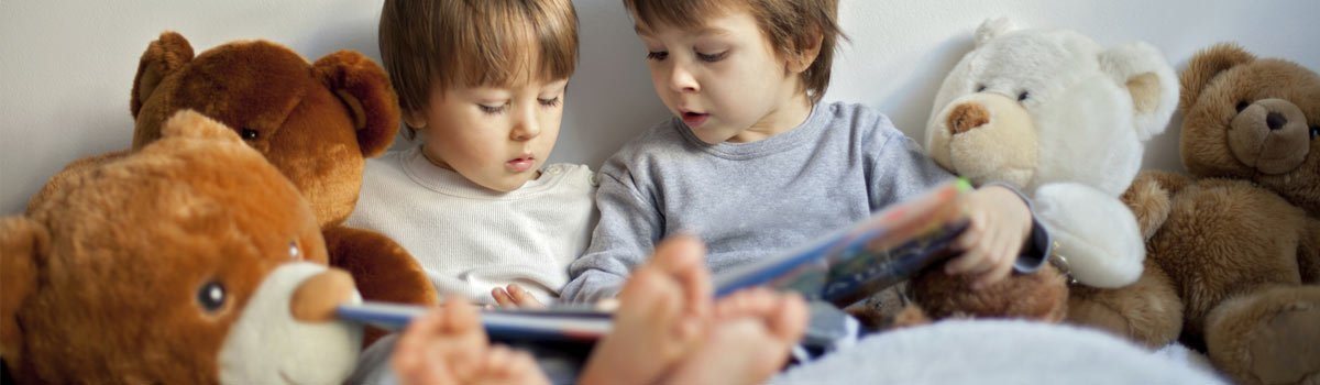 Children reading on kids' bedroom furniture in Adelaide