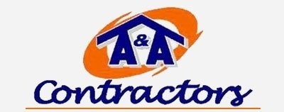 A and a contractors logo footer