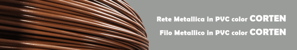 rete mettallica in pvc color corten