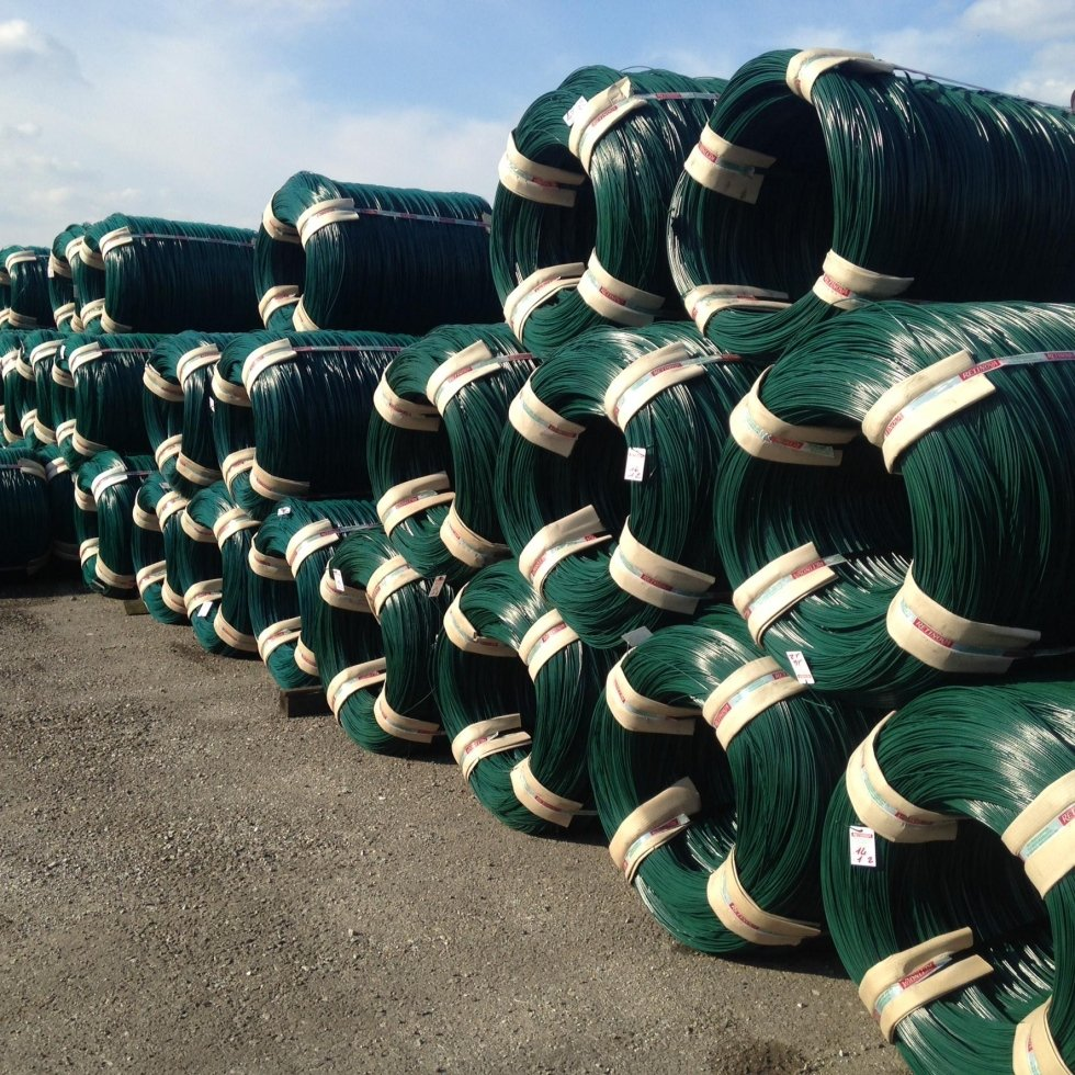 bundles plastic-coated wire