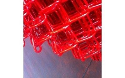 plastic-coated wire mesh