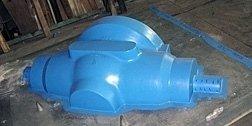 tubo di plastica blu
