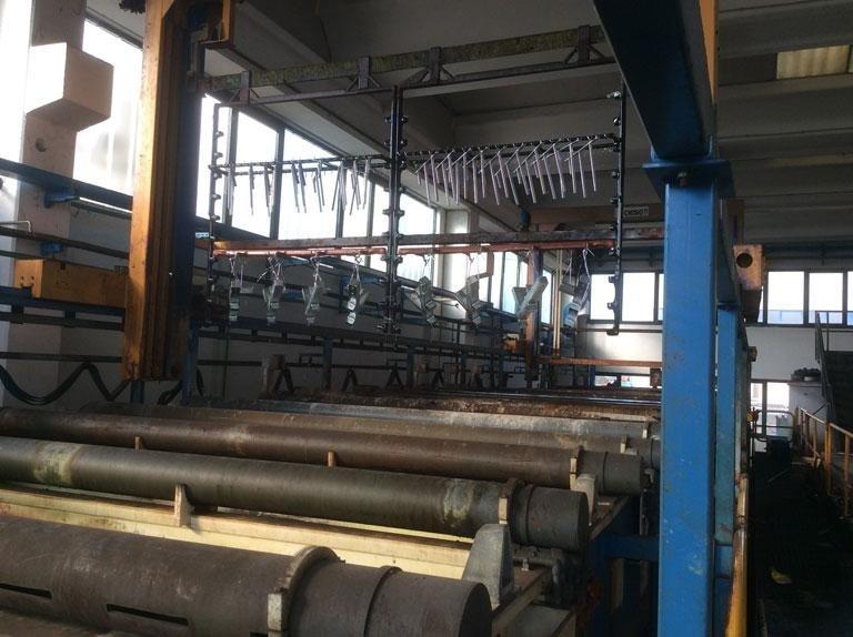 Impianto macchinario di zincatura