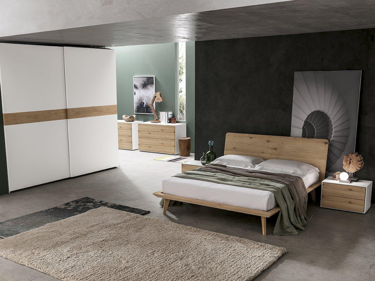 camera in legno bianco