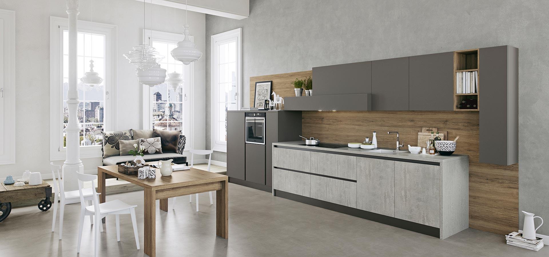 cucina moderna grigia
