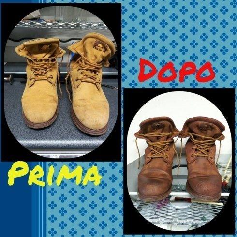Scarpe timberland colore calzolaio riparazione scarpe cecina livorno toscana